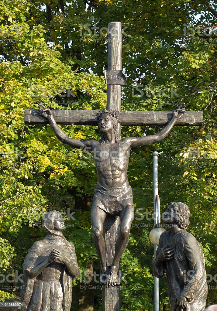 Mystery of the Rosary 'crucifixion of Jesus' in Jasna Gora stock photo