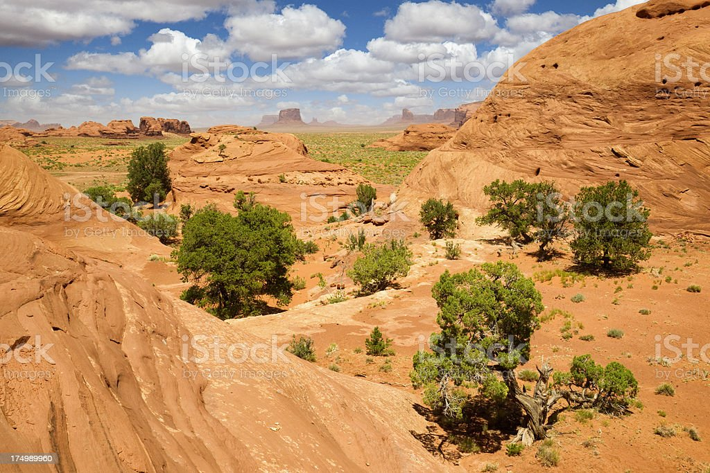 Mystery Valley in Monument-Valley Tribal Park stock photo