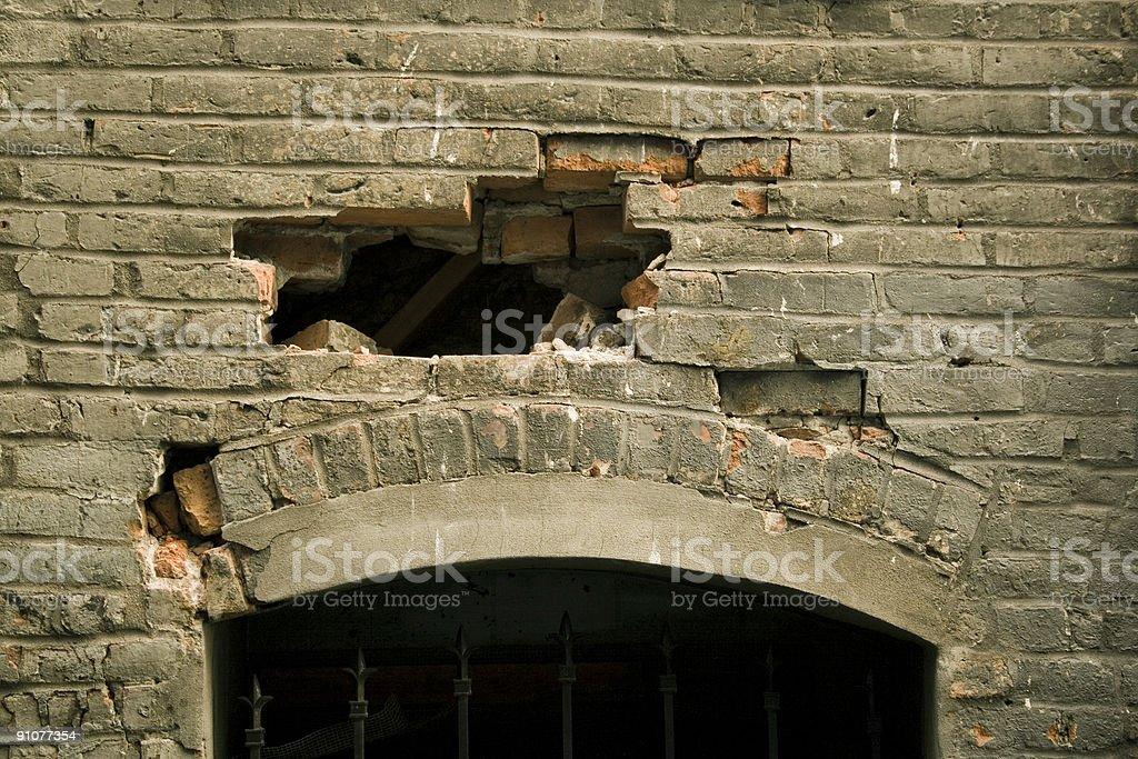 Mystery Wall stock photo