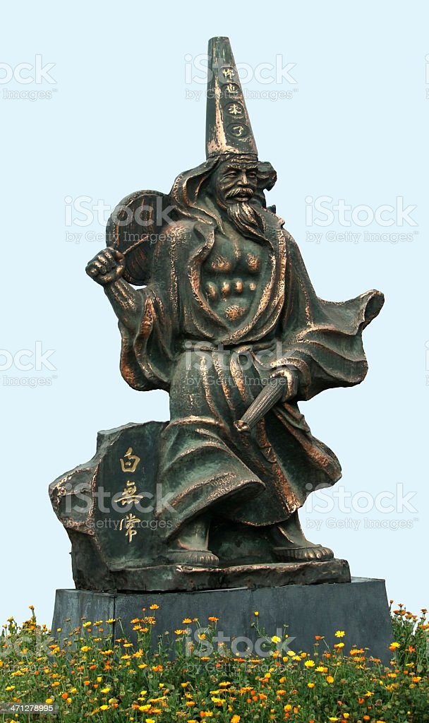 mystic bronze sculpture at Fengdu County royalty-free stock photo