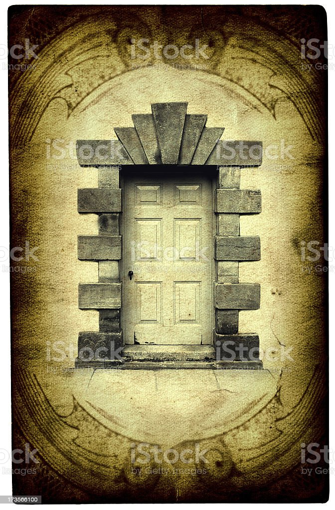 Mystic Card- The Portal royalty-free stock photo
