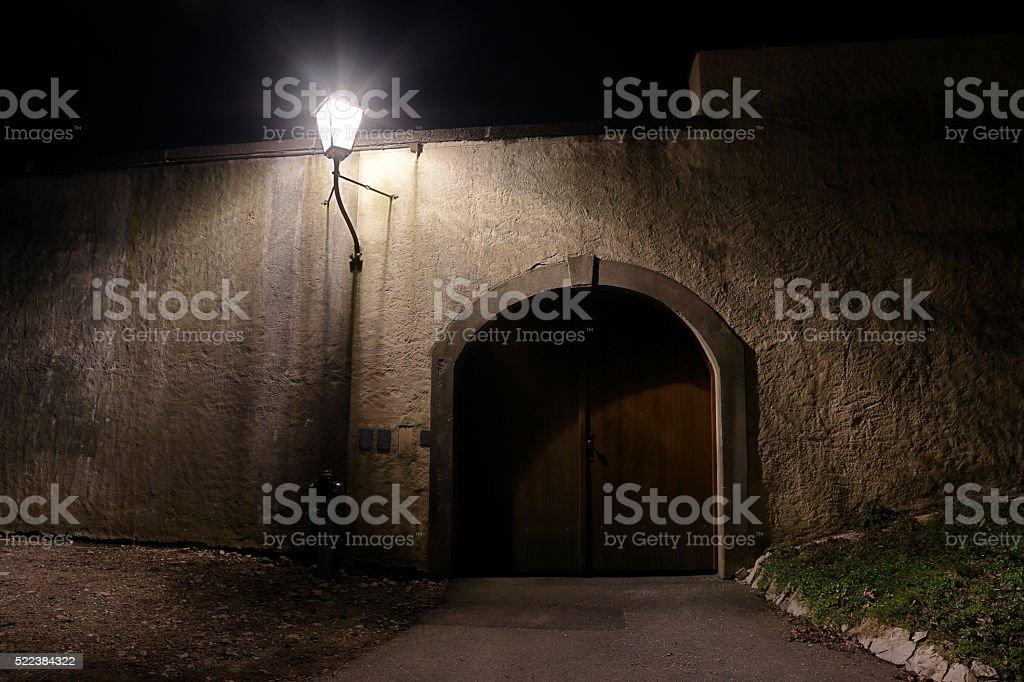 Mystic door stock photo