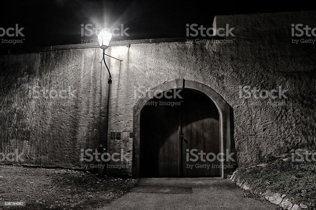 Mystic door stock photo