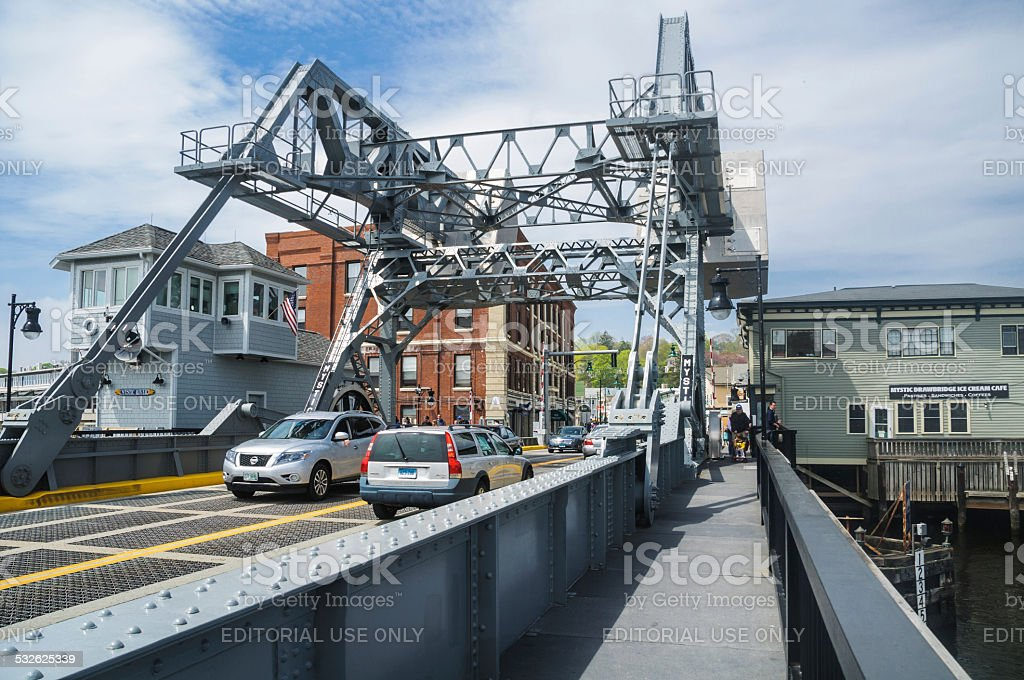 Mystic Drawbridge stock photo