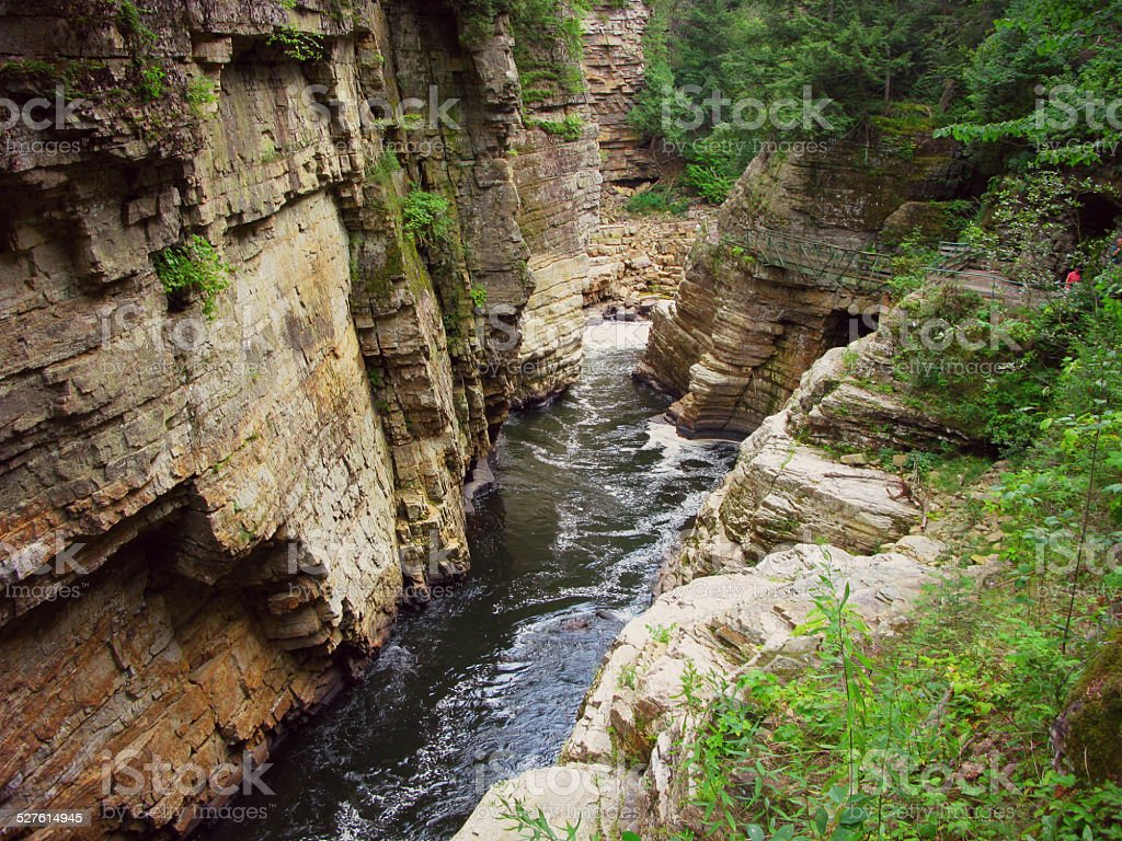 Mystic Gorge, Ausable Chasm, Keensville, New York stock photo