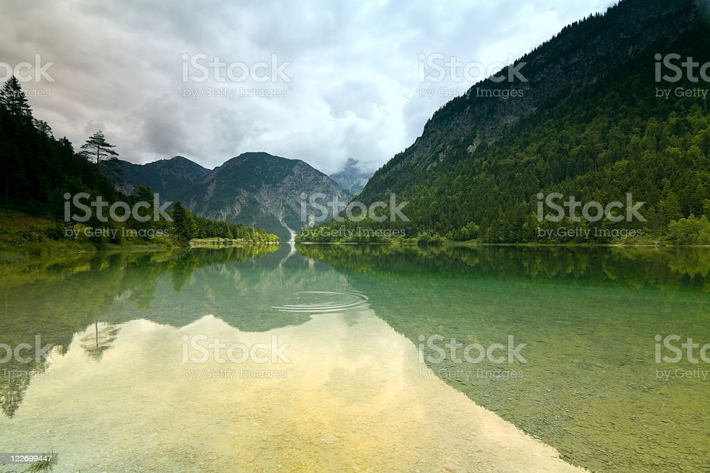 mystic lake Plansee stock photo