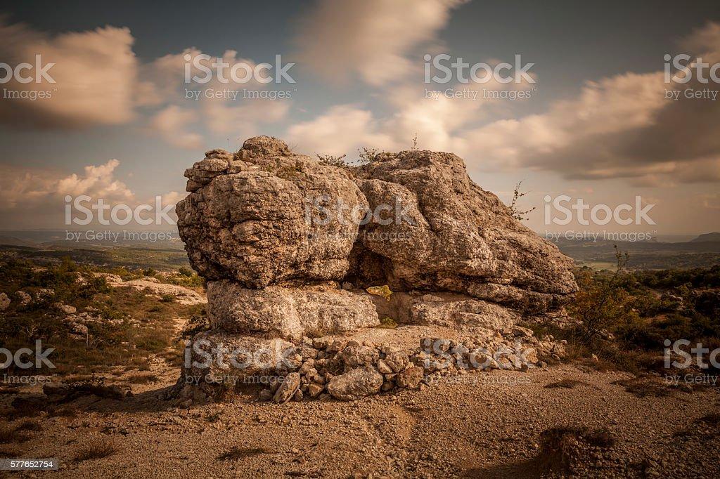Mystic landscape, France stock photo