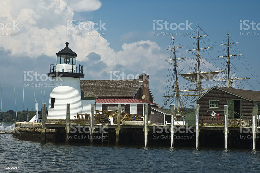 Mystic Lighthouse royalty-free stock photo
