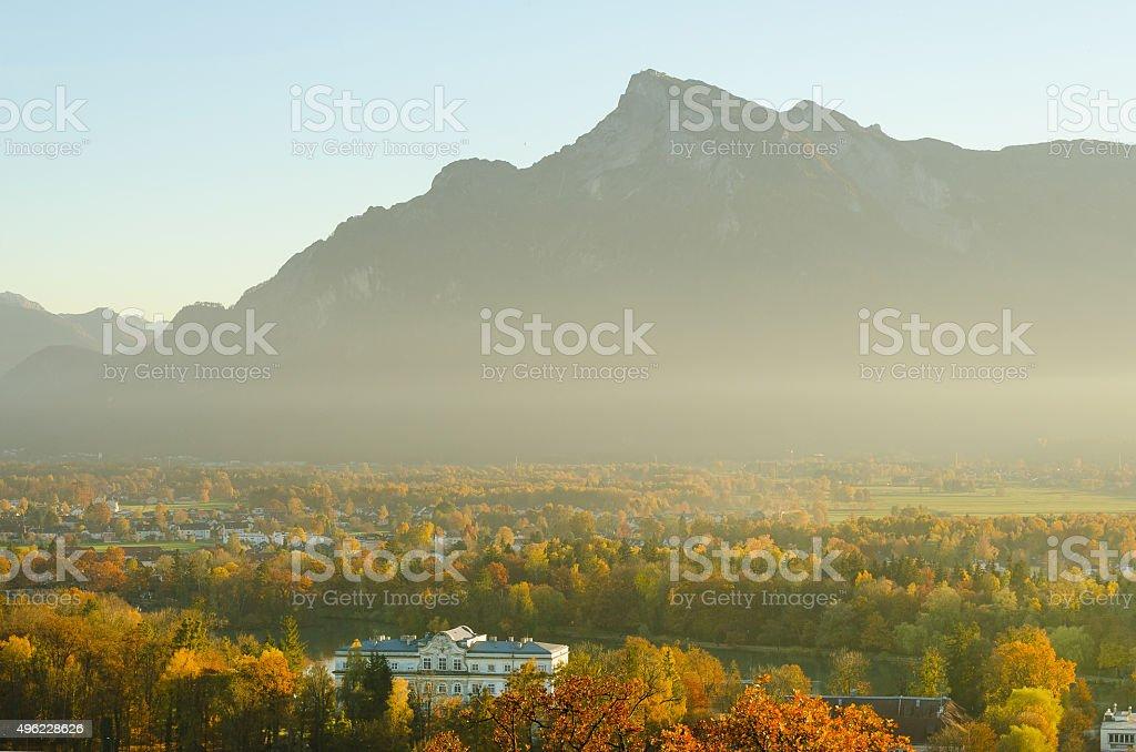 Mystic Magic Untersberg in Salzburg Austria stock photo