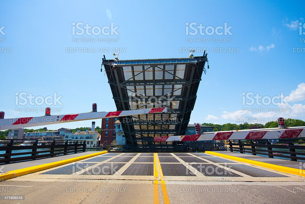 Mystic River Bascule Bridge stock photo