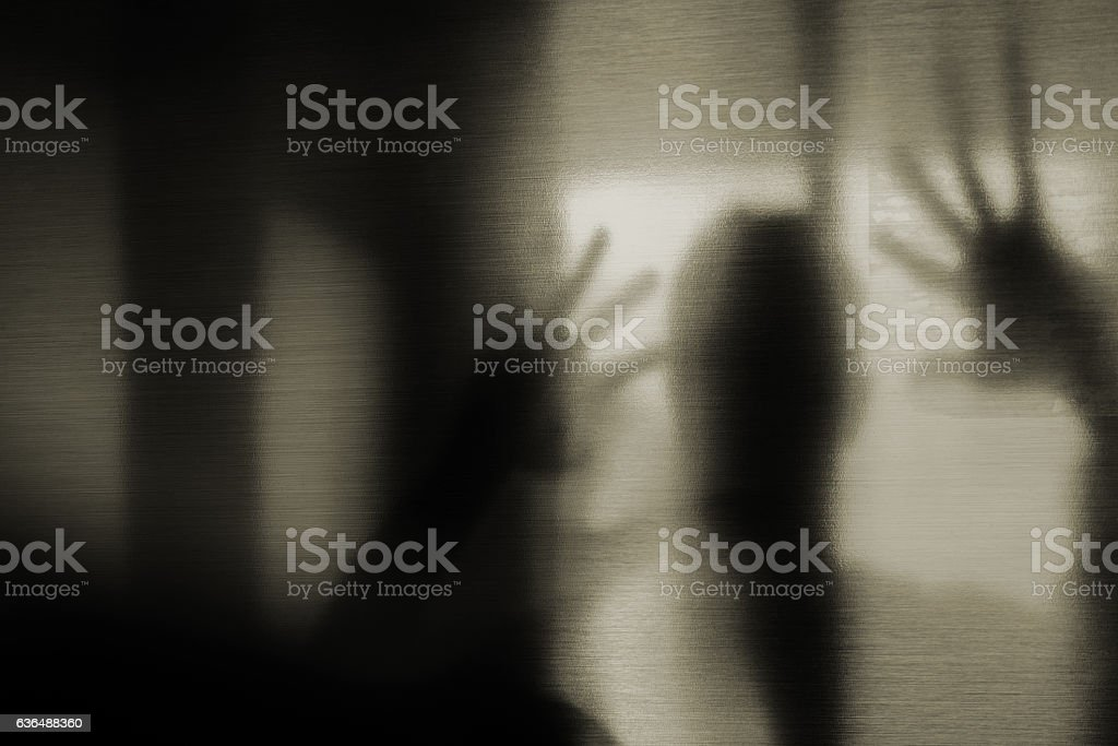 Mystic silhouette. stock photo