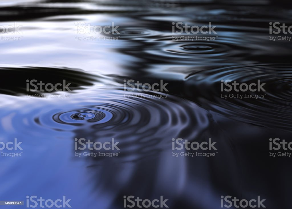 Mystic water ripples royalty-free stock photo