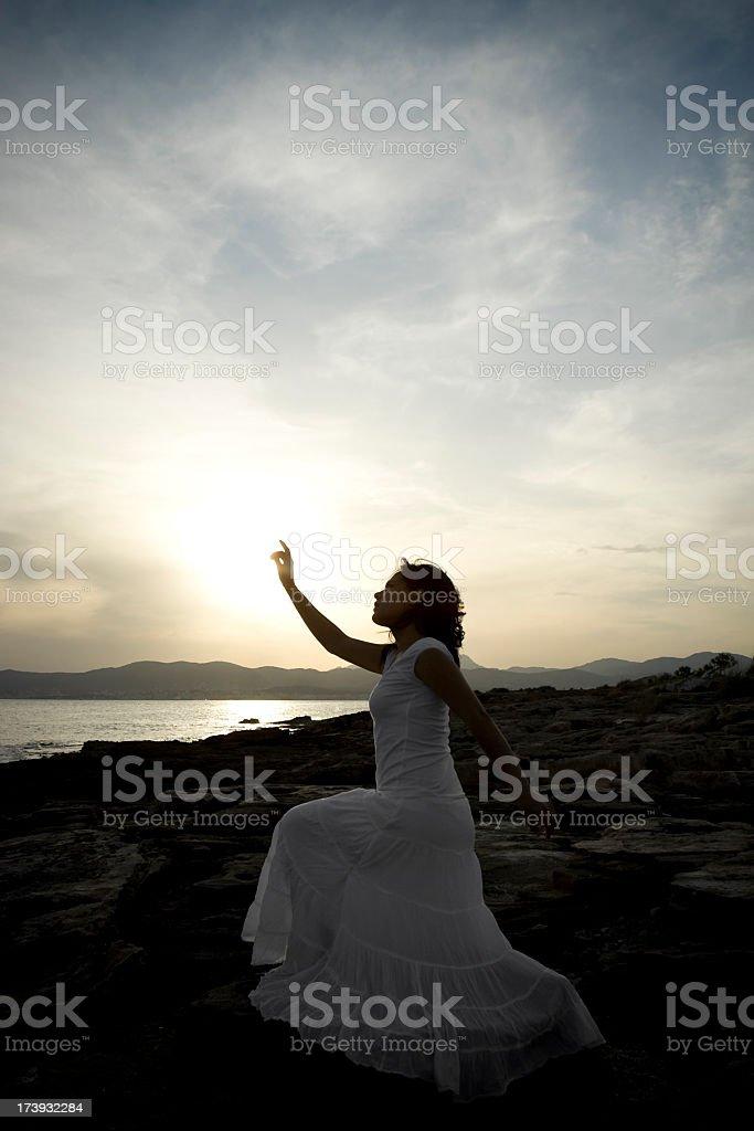 mystic woman stock photo