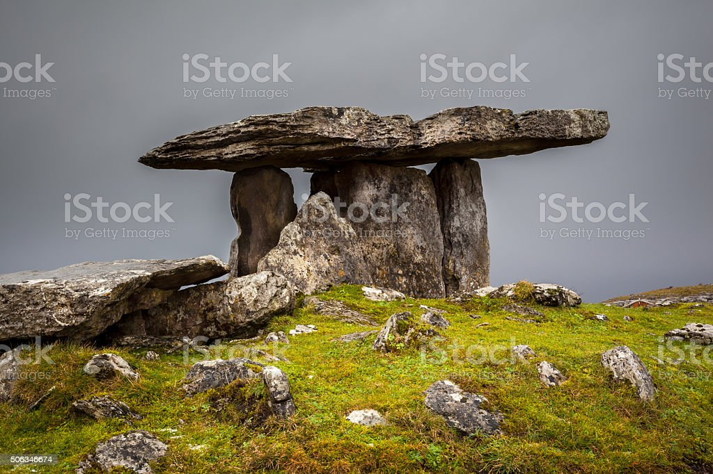 Mystical 5000 Year Old Celtic Burial Chamber stock photo