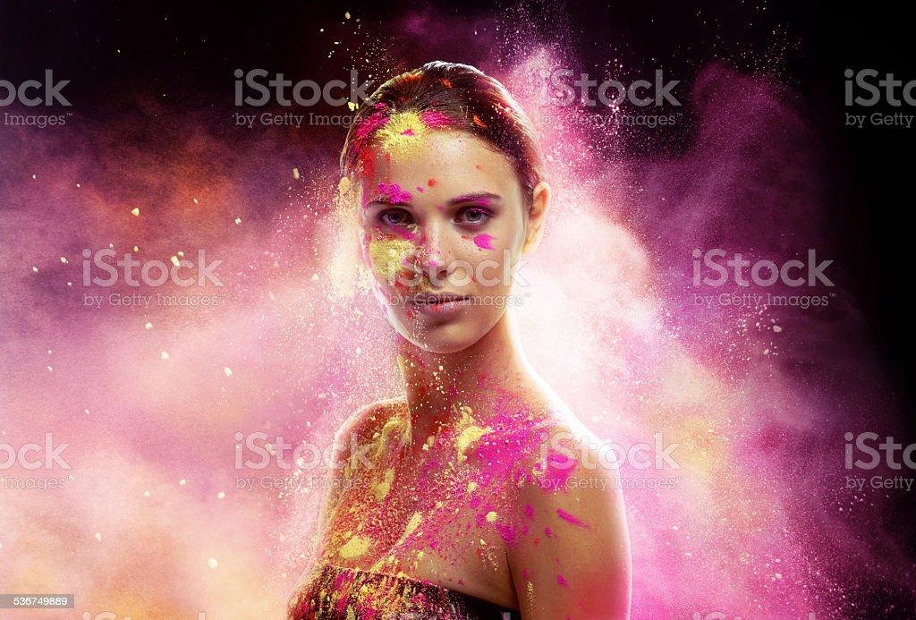 Mystical beauty stock photo