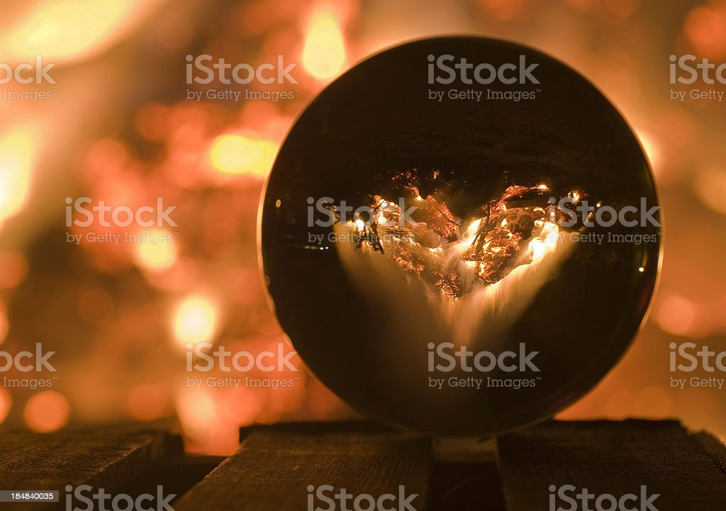 mystical crystal ball stock photo