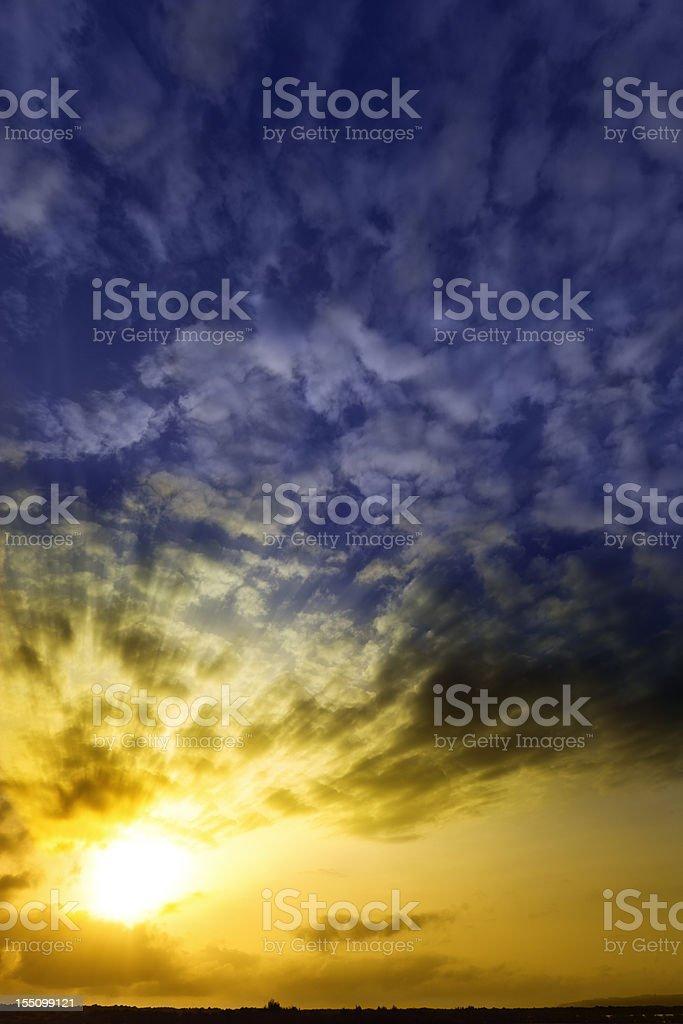Mystical holy rays royalty-free stock photo
