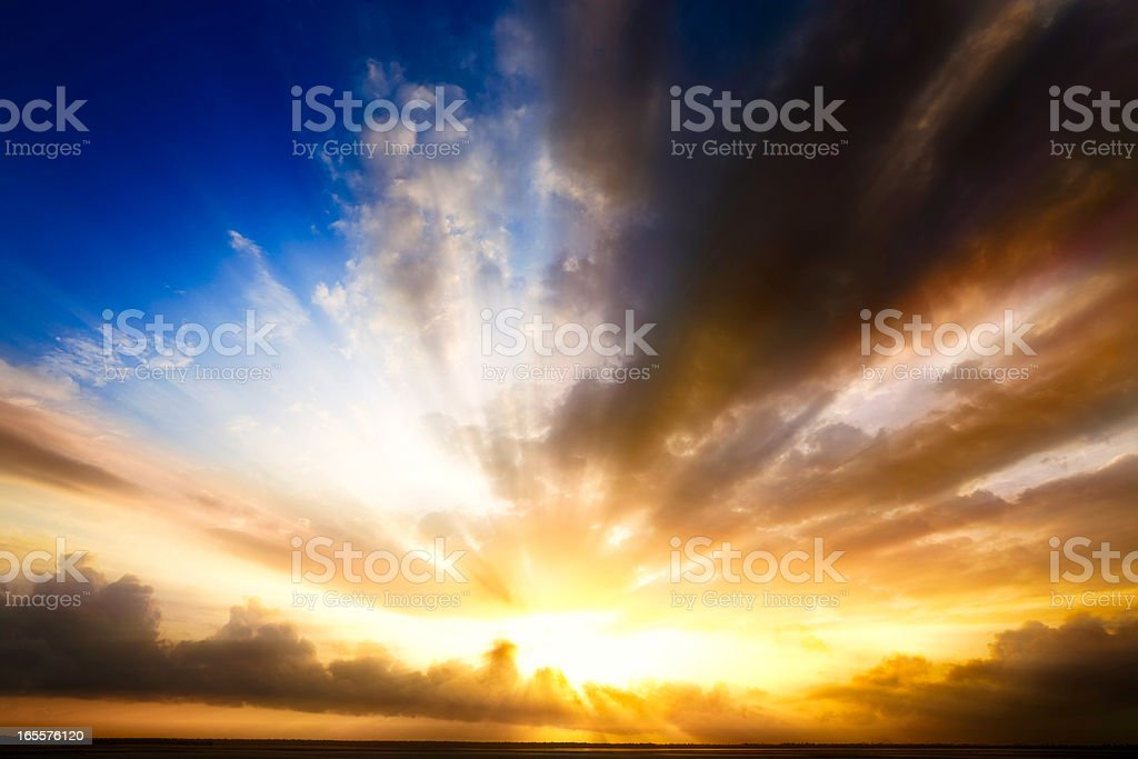 Mystical holy rays stock photo