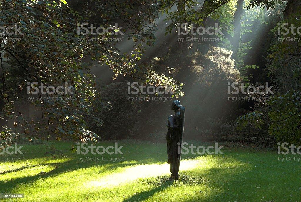 mystical light stock photo