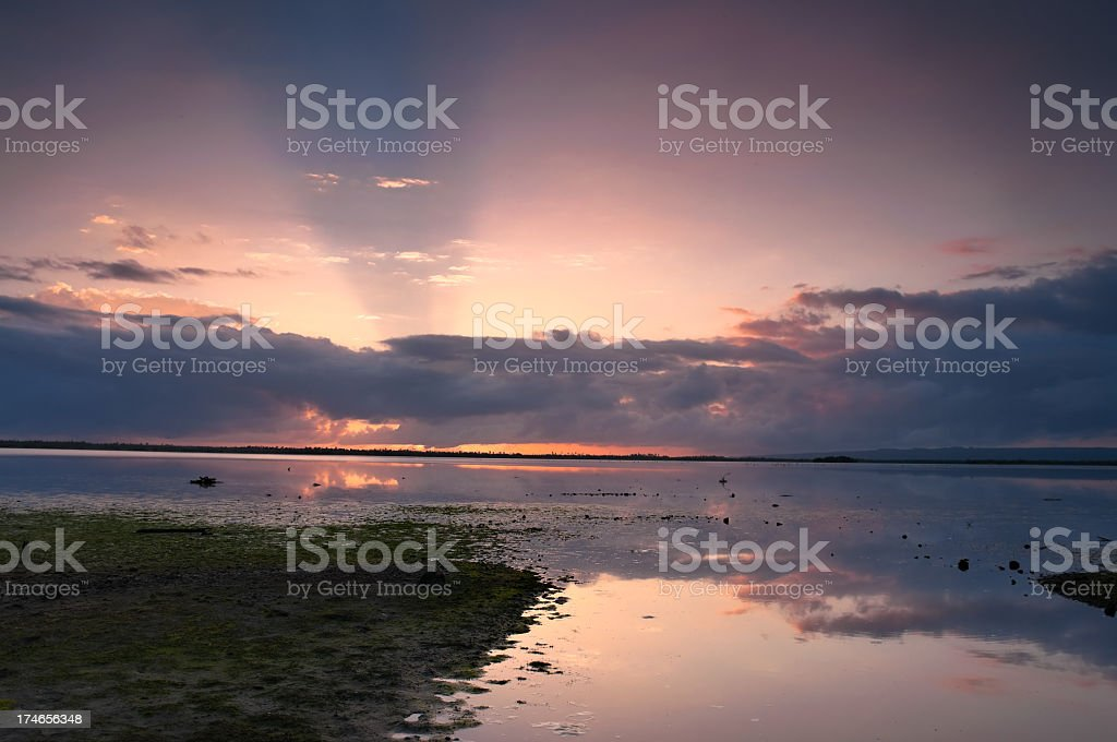Mystical Sunrays royalty-free stock photo
