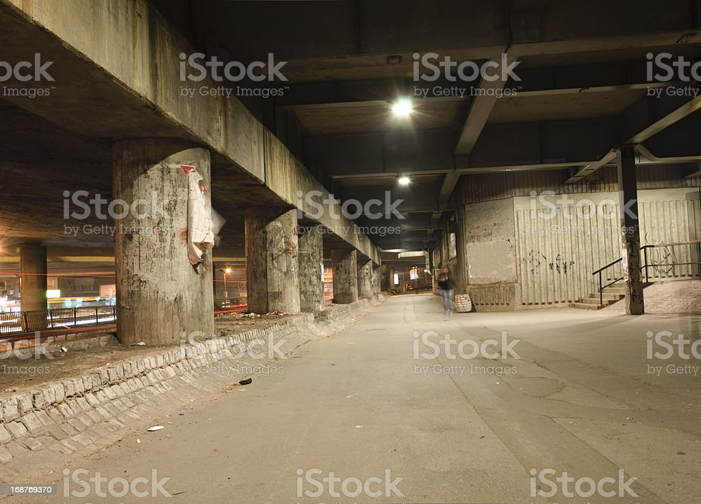 Mystical tunnel stock photo