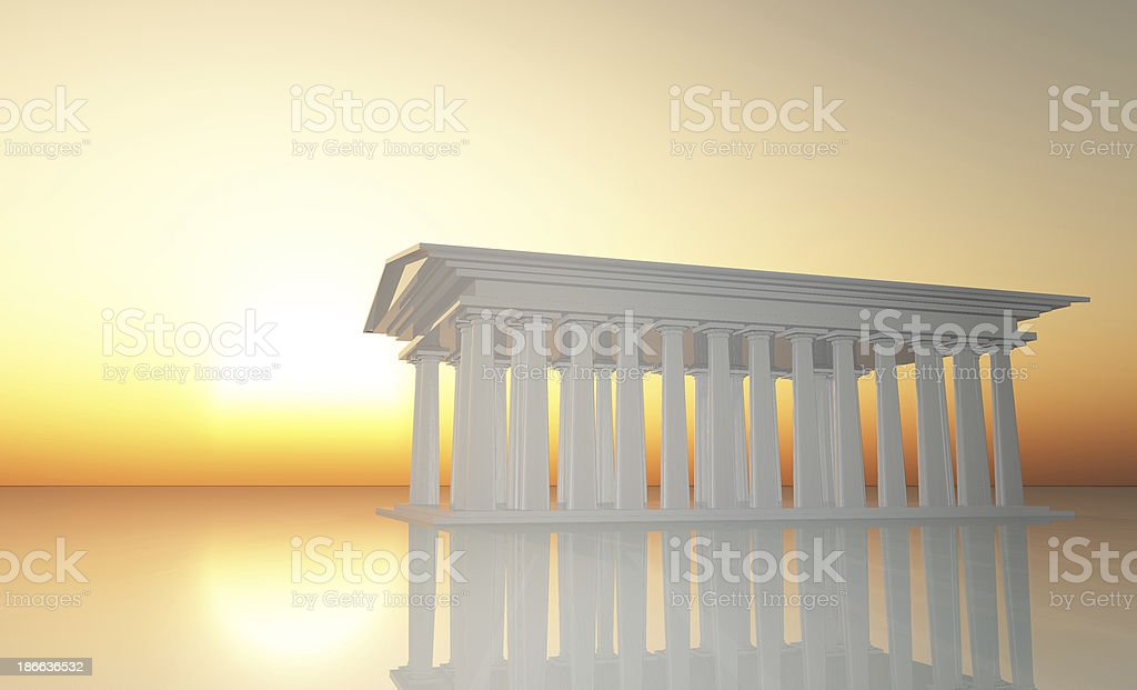 Mythical Temple royalty-free stock photo