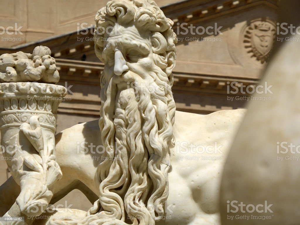 Mythological Creature located at Fontana Pretoria in Palermo, Sicily, Italy stock photo
