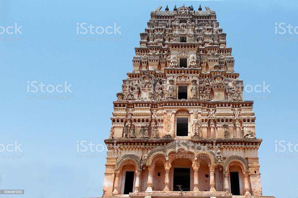 mythology Characters  stone carving  in a Hindu temple ,Hyderabad,India stock photo