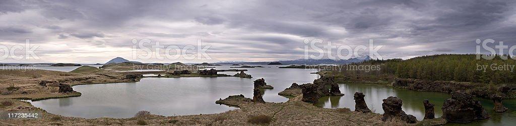 Myvatn Panorama stock photo