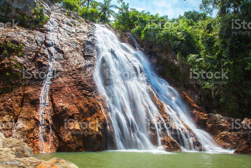 Na Muang 1 waterfall, Koh Samui, Thailand stock photo