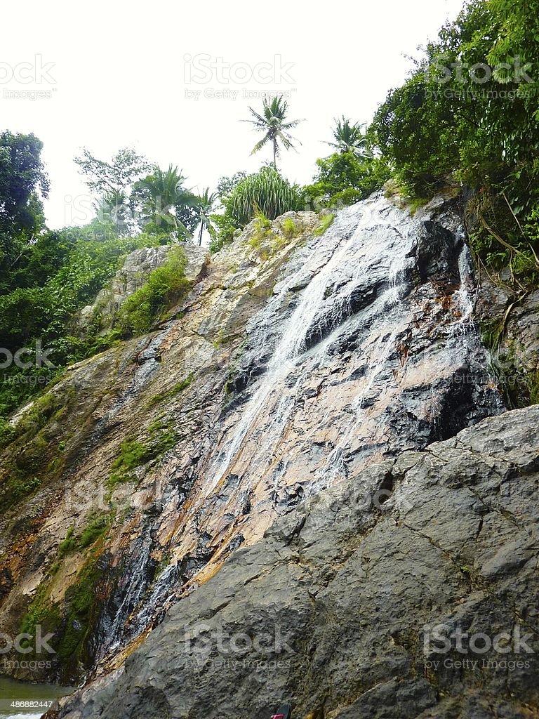 Na Muang Waterfalls in Ko Samui Thailand royalty-free stock photo