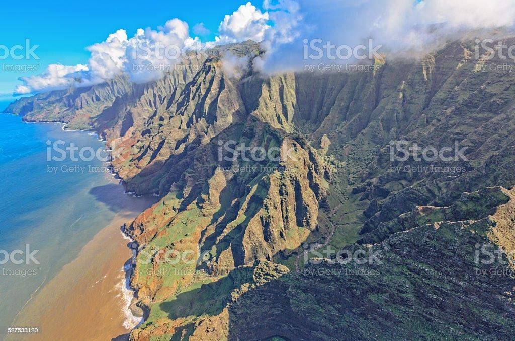 Na Pali Coast, Kauai stock photo