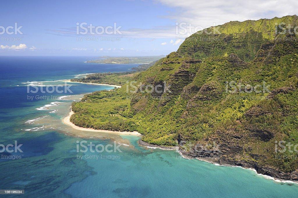 Na Pali Coast of Kauai royalty-free stock photo