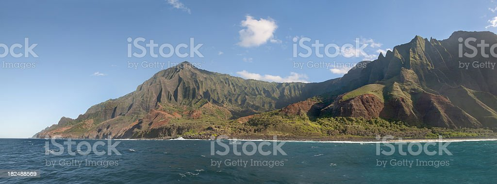 Na Pali Coastline Panoramic royalty-free stock photo