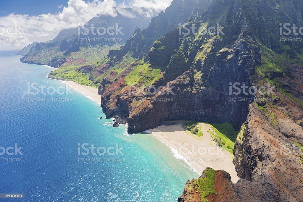 Na Pali Cost on Kauai island stock photo