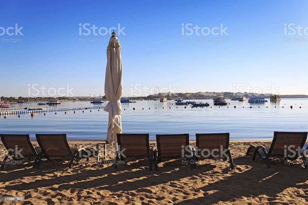 Naama Bay in Sharm El Sheikh, Egypt royalty-free stock photo