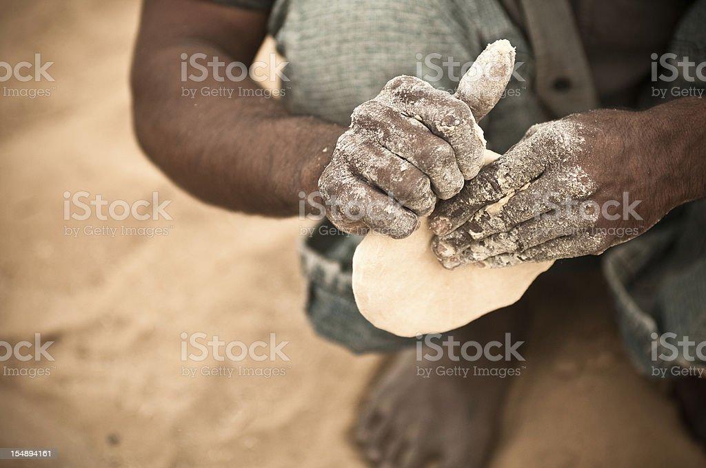 Naan Bread stock photo
