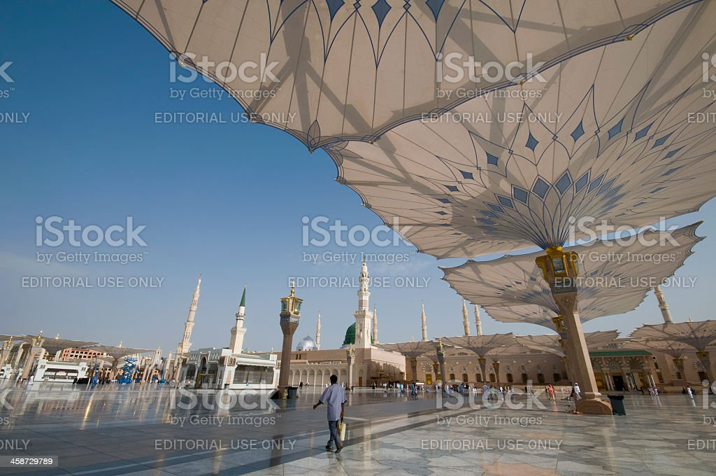 Nabawi mosque in Medina, Kingdom of Saudi Arabia. royalty-free stock photo