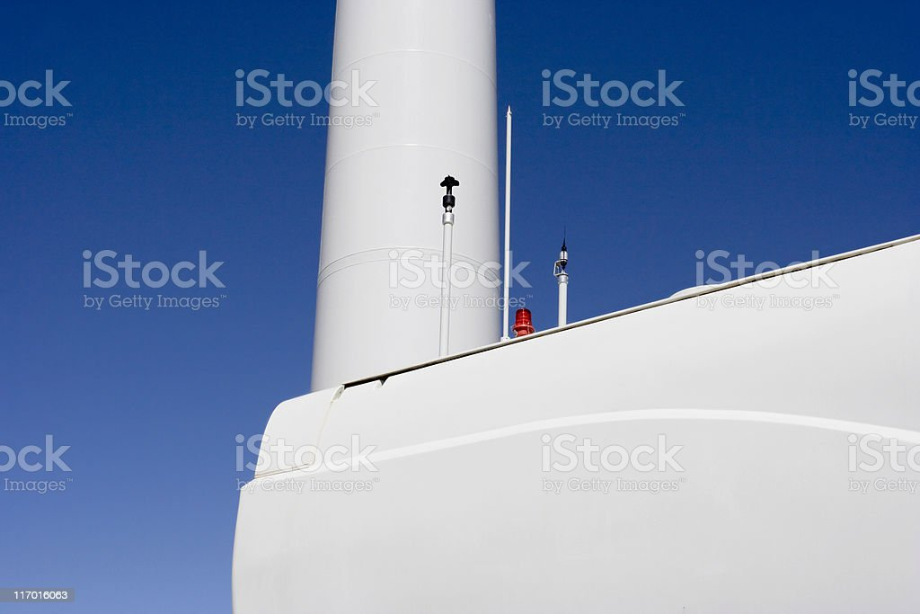 Nacelle and tower stock photo