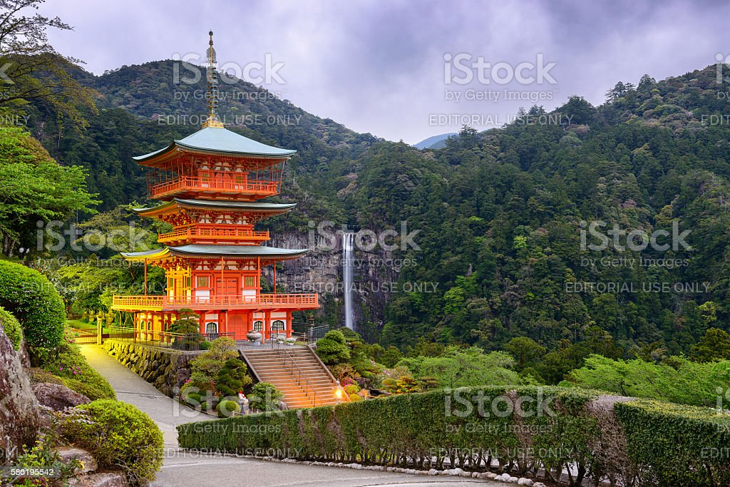 Nachi Shrine in Japan stock photo