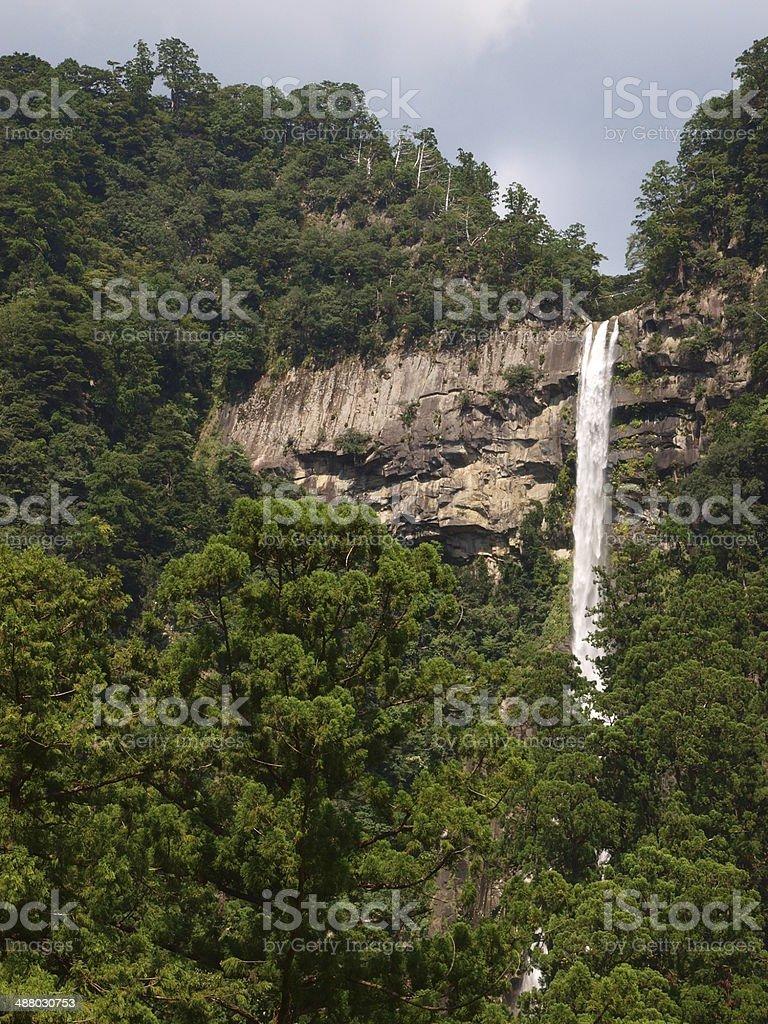 Nachi Waterfalls, a very famous landmark in Japan stock photo