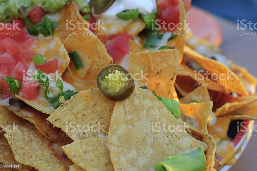 Nacho Platter stock photo