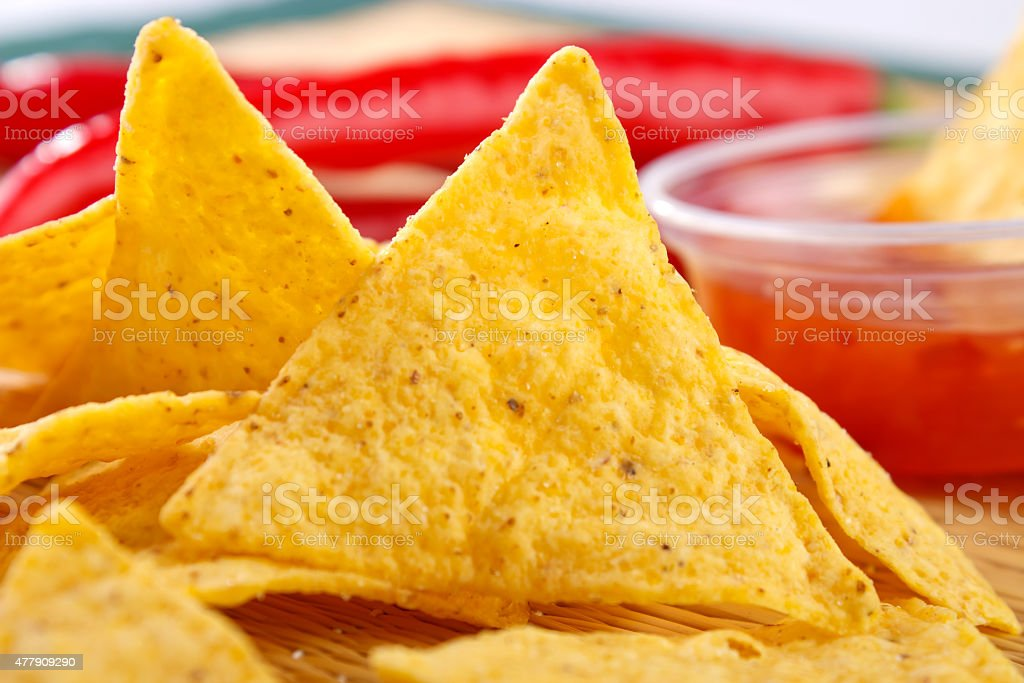 Nacho snacks royalty-free stock photo