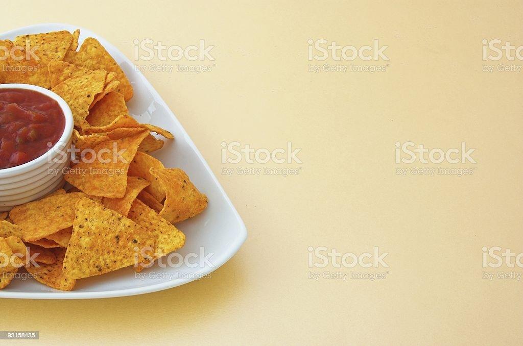 Nacho's and dip stock photo