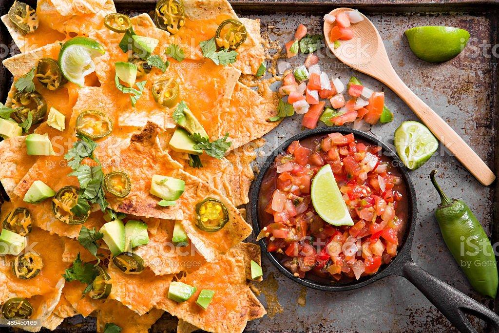 Nachos And Salsa stock photo