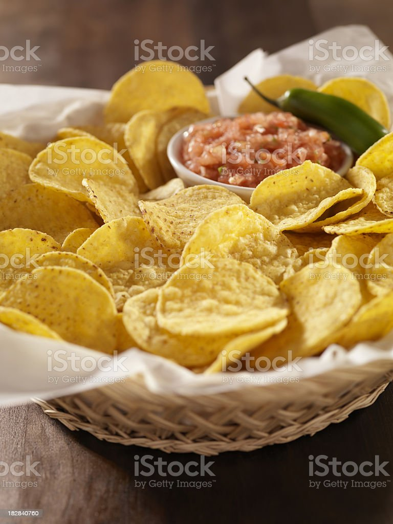 Nachos Chips with Salsa royalty-free stock photo