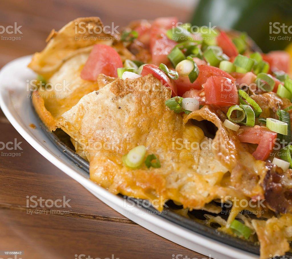 nachos with cheese stock photo