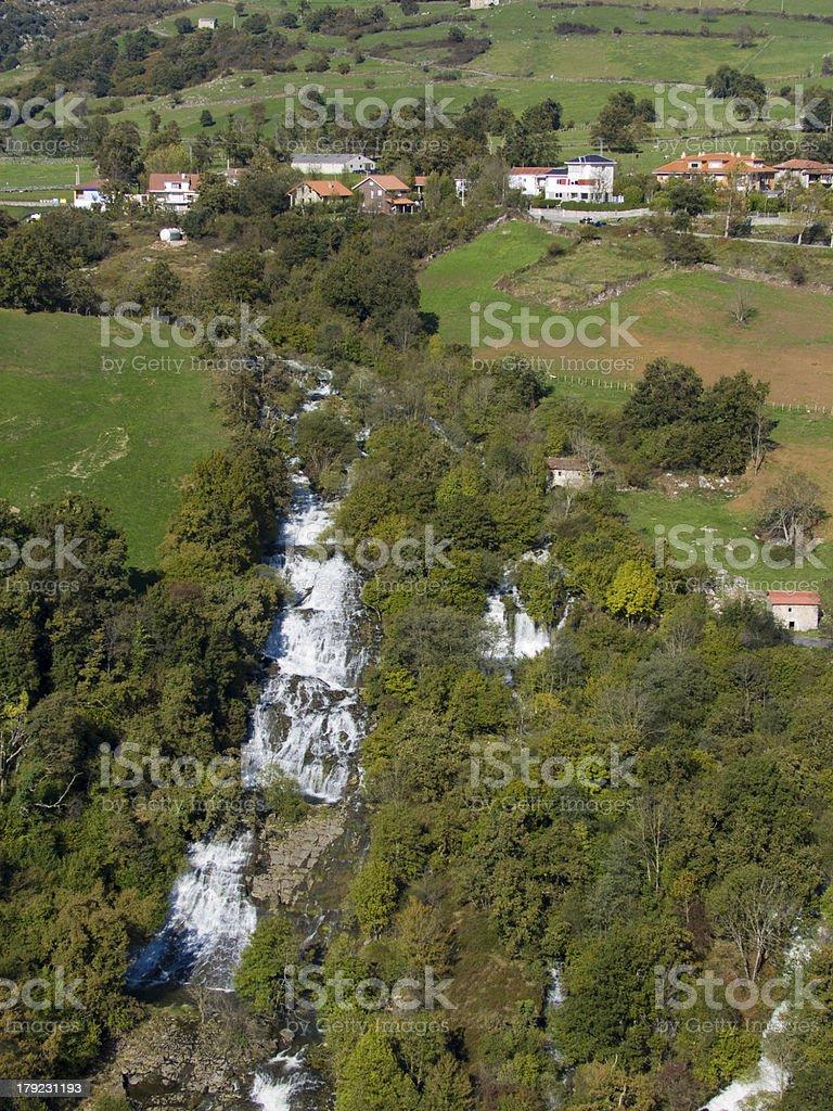 Nacimiento del rio Gandara, Cantabria. España. royalty-free stock photo