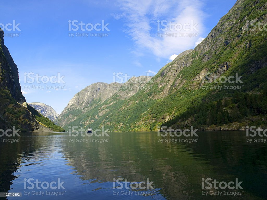 Naeroyfjord in Norway royalty-free stock photo