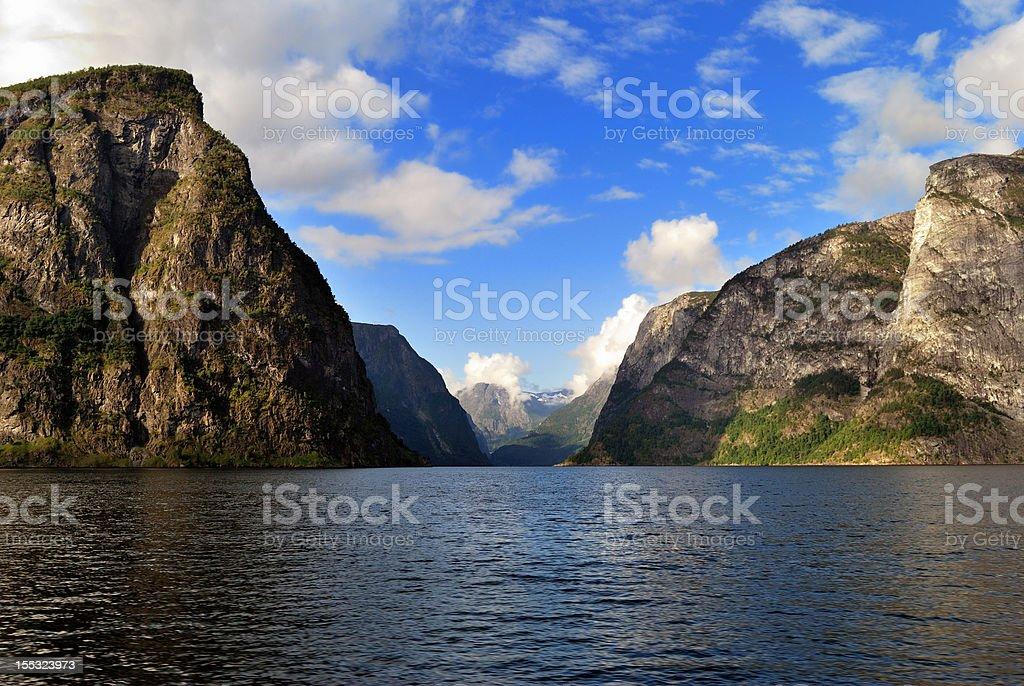 Naeroyfjord in Norway royalty-free stock photo